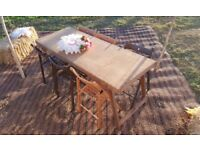 Vintage Style Wooden Trestle Tables