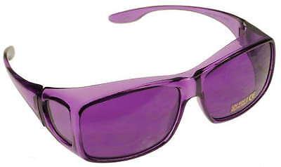 MEDIUM FITS OVER Violet Purple Color Therapy Glasses Poker Sunglasses Mens (Medium Violet)