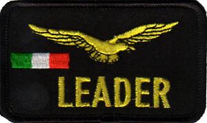 TOPPA-PATCH-LEADER-AQUILA-BANDIERA-ITALIANA-DISTINTIVO-AVIAZIONE-CON-STRAPPO-A