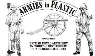 Armies in Plastic - Royal Artillery Shirt Sleeve Order Boxer Rebellion 54mm 1/32