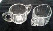 Clear Glass Sugar Creamer