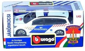 Ford Focus Hungarian Police toy car Bburago 1:43
