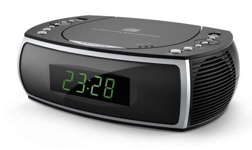 Radiowecker mit Radio, CD, USB Ladefunktion und 2 Weckzeiten CR501 schwarz