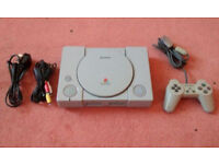 SONY PLAYSTATION PS1 Console all lead controller SCPH-9002 with 2 games