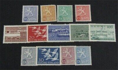 nystamps Finland Stamp # 343//404a Mint OG H $39   L23y258