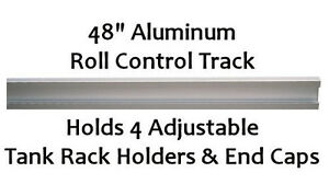 Roll-Control-48-Aluminum-Track-Railing-holds-Adjustable-Tank-Racks-End-Caps-Bar