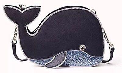644321cfc1a92b NWT Kate Spade Whale Off We Go Navy Blue Crossbody Bag Purse Saffiano  Leather
