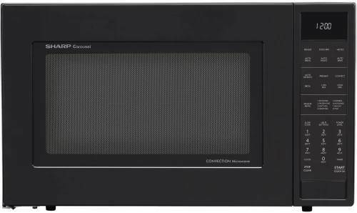 Sharp 1.5 Cu. Ft. Convection Countertop Microwave Oven in Bl