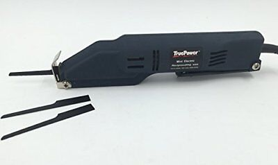 Electric Reciprocating Saw, Mini Metal W/3Blades Blk, 120V F