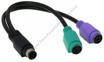 Ps2 Y-splitter (Notebook/Laptop PS2 Y/Splitter Mouse&Keyboard Cable/Cord/Wire Adapter $SH DISC{K)