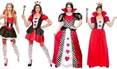 Damen Alice Im Wunderland Verrückter Hutmacher Königin der Herzen Kostüm