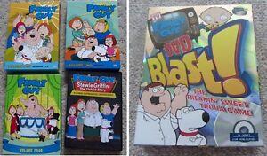 Family Guy on DVD - Volumes 1 Thru 4, Stewie Griffin, & DVD Game