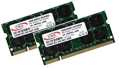 2x 4GB = 8GB Speicher RAM DDR2 667Mhz Acer Notebook Aspire 7736ZG...