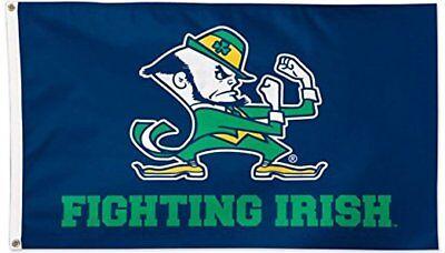 NOTRE DAME FIGHTING IRISH FLAG 3'X5' ND FIGHTING IRISH BANNER: FREE - Nd Fighting Irish