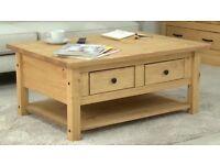 New Opened San Diego 2 Drawr 1 Shelf Coffee Table.