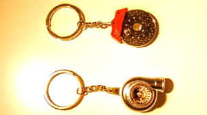 Turbo and cross drilled break key chains
