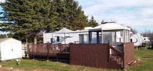 32ft trailer Shediac Shed,30ft.x16ft Deck and Gazebo Included