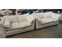 2 and 3 seater large comfy sofa flower pattern very clean