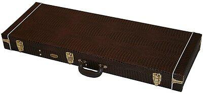 Hochwertiges Case Koffer für E- Gitarre, Gitarrenkoffer Kroko Look T + S Modelle