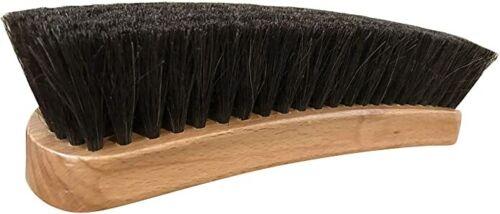 "8"" Large Professional Horsehair Shoe Shine Brush Made in Israel Dark Horsehair"