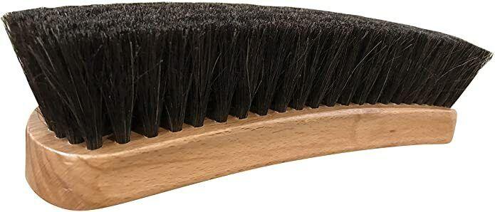 8″ Large Professional Horsehair Shoe Shine Brush Made in Israel Dark Horsehair Clothing & Shoe Care