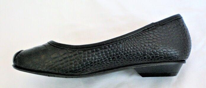 Crocs You by Crocs Sorbet flats black croco leather sz 5.5 Med NEW 1