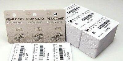 3-up Breakaway Key Tags Keychain Blank White Inkjet Printable PVC Cards - 50pcs