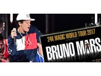 2x Bruno Mars 13th March Good seats