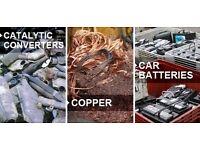 Cash for copper pipe copper cable copper tanks lead car battery's brass