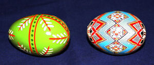 Ukrainian Hand Painted Wooden Eggs For Sale