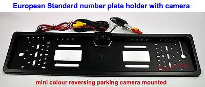 Number Plate Holder Frame & mini colour Reverse Parking Camera guide line NTSC