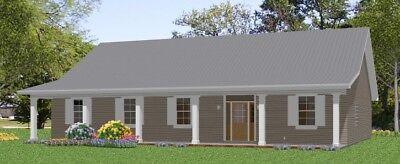 Custom House Home Build Plans Split Ranch 3-4 bed 2088 sf---PDF FULL PERMIT SET
