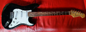 Stratocaster electric style guitar.Make is Academy.