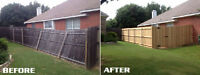 Fence fix (post replacements) for leaning or rotten fences