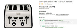 Grille-pain 4 tranches T-fal