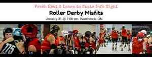 Roller Derby - Fresh Meat & Learn to Roller Skate Info Night Stratford Kitchener Area image 1