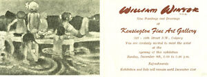 WILLIAM WINTER: NEW PAINTINGS AND DRAWINGS EXHIBITION CARD 1974