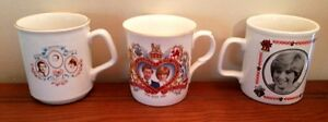 Prince Charles and Princess Diana Collectors mugs