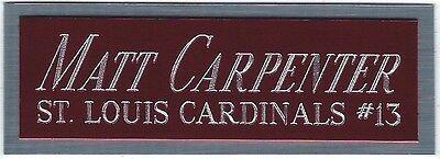 MATT CARPENTER CARDINALS NAMEPLATE AUTOGRAPHED SIGNED BASEBALL-BAT-JERSEY-PHOTO