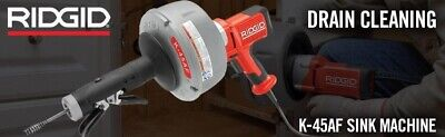 New Ridgid 35473 K-45af Sink Drain Cleaning Machine Wc-1 516 Inch Inner Cable
