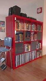 Ikea Expedit large gloss red bookcase/ storage