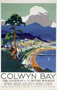 Welsh-Railway-Art-Travel-Poster-Print-Colwyn-Bay-Wales
