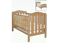 Cot bed for sale. In very good condition. 2 heights. Baby changer to go on top available also.