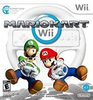 Wii MarioKart and SuperMario Bros 2Controllers 2steering Wheels