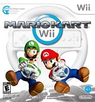 Mario kart wii with wheel(black)
