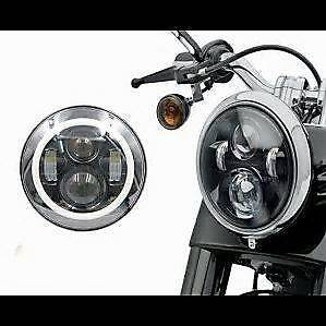 7 Inch Round LED Headlight Halo Angel Eye For Harley Daymaker Kings Park Blacktown Area Preview