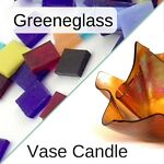 Greeneglass and Vase Candle