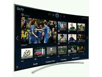 """SAMSUNG 48"""" Curved 8 series LED smart tv 3D wifi HD freeview full hd 1080p clear crystal picture ."""