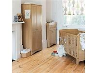 John Lewis toronto nursery set - Cot bed, wardrobe and baby changing unit