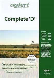 20kg Complete D garden fertiliser manure. Magill Campbelltown Area Preview